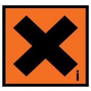 Hazard safety sign - Irritant 045